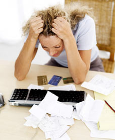 Stress while in debt