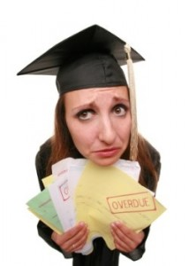 In debt due to student loan